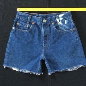 Vintage 80-90's Levi student 501 cut off shorts